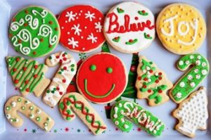 galletas de mantequilla navideñas decoradas